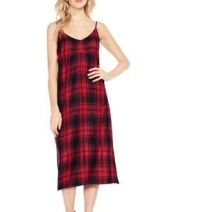 NWT Red Plaid Two By Vince Camuto Dress, Size M